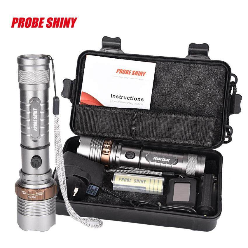 Harga Tactical Flashlight XM-L T6 LED Zoomable Torch Lamp X800 Light Kitshadowhawk