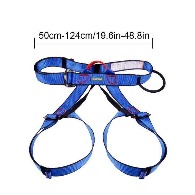 Buy Teekeer Half Body Climbing Harness, Adjustable Safety Gear Equipment For Mountaineering/ Fire Rescue/ Higher Level Caving/ Rock Climbing/ Rappelling (Blue) Malaysia
