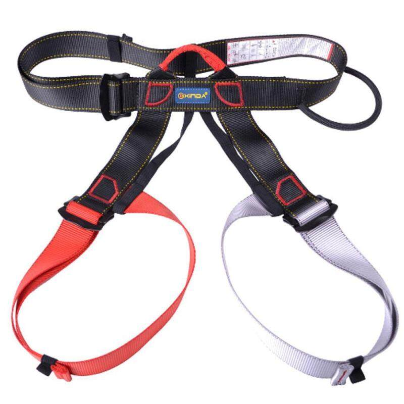 Buy Teekeer Half Body Climbing Harness, Adjustable Safety Gear Equipment For Mountaineering/ Fire Rescue/ Higher Level Caving/ Rock Climbing/ Rappelling (Red + Grey) Malaysia