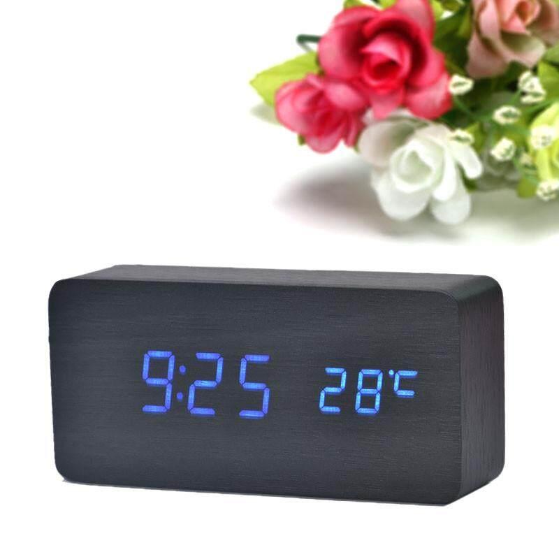 Beautiy Kota Temperature SOUNDS Pengendali LED Elektronik Desktop Digital Jam Alarm Bu-Internasional