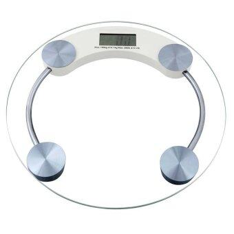 Tempered Glass Digital Bathroom Weight Scale Measurement 180Kg 26cm
