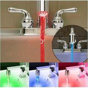 Harga The latest popular Water Faucet Light 7 Colors Changing Shower Bathro om Temperature Tap