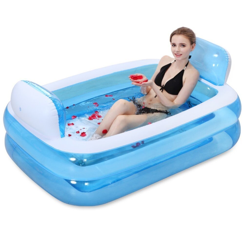 Thickening Inflatable Bath Adult / Child Bathtub / Bath Tub-Sky Blue ...