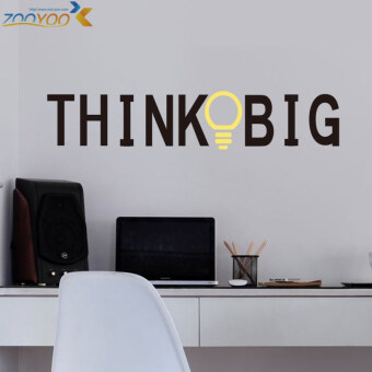 Harga think big quote wall stickers home decorations study roomdecoration sticker 3d diy vinly wall decals walldecors