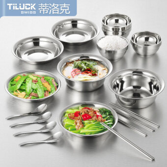 TiLUCK package stainless steel dishes soup pots Stainless Steel Plate