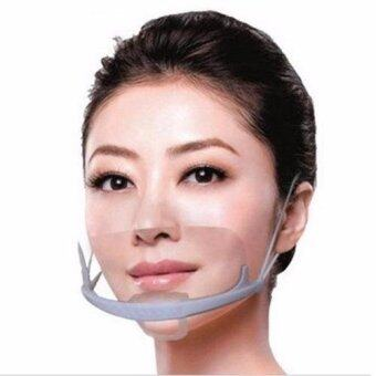 Harga Transparent Mouth Shield / Hygiene Mask /Kitchen Mouth Shield /Manner Guard Sanitary Mask 100's