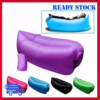 ... TREND Air Lazy Bag Sofa Camping Beach Inflatable Sleeping Bed Portable  Malaysia