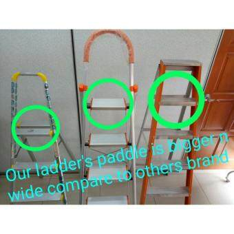 TRENY Wide Tread Aluminum 3 Step Ladder-632 - 2