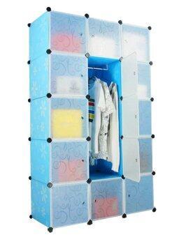 Tupper Cabinet 15 Cubes 1-Hanger Blue Flower DIY Wardrobe | Lazada ...