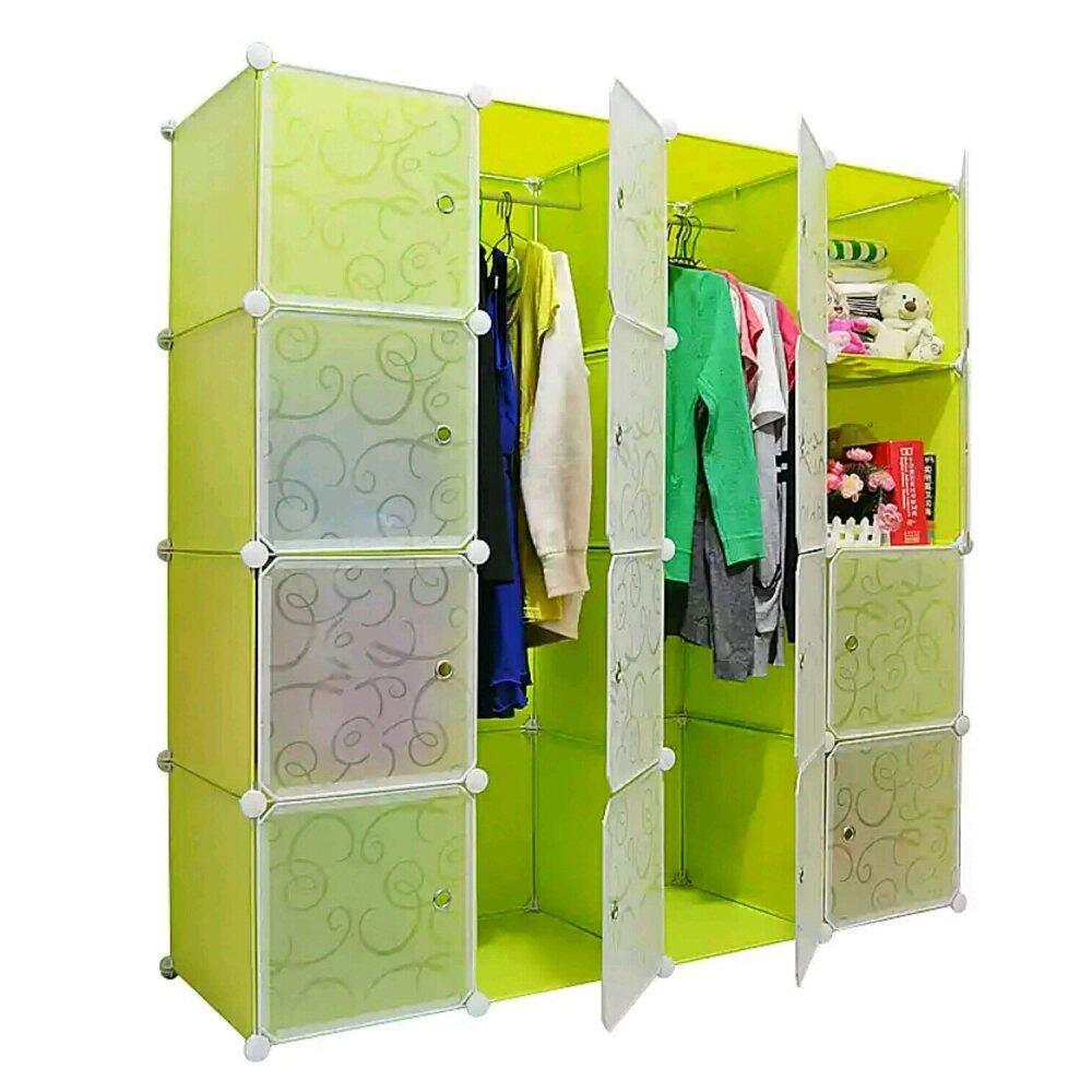Tupper Cabinet DIY Wardrobe 16 Cubes (Fruit Green) | Lazada Malaysia