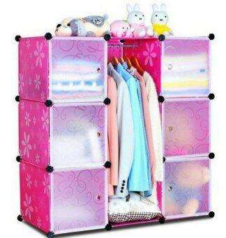 Tupper Cabinet DIY Wardrobe 9 Cubes Pink | Lazada Malaysia