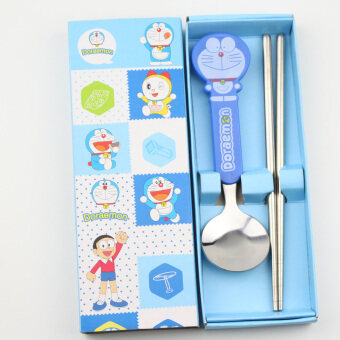 Two Piece Suit student tableware gift box spoon