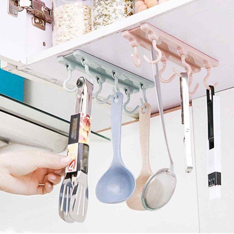 Buy Under Shelf Cup Holder Coffee Mug Kitchen Storage Rack Cupboard Organizer Hooks Malaysia
