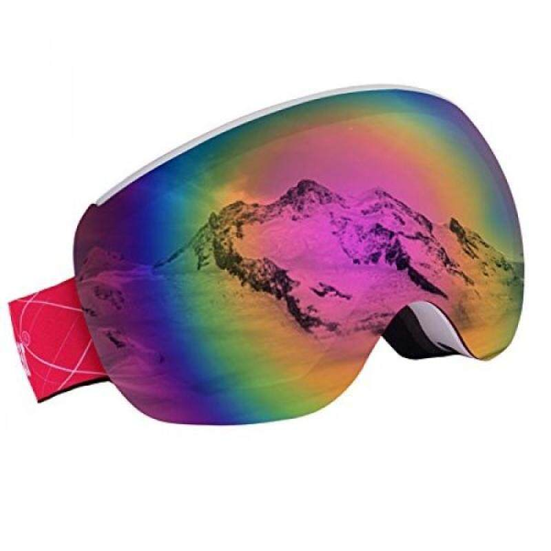 Buy Unigear OTG Ski Goggles, Over Glasses Snowboard Snow Spherical Anti-fog Goggles for Men & Women with Interchangeable lens and 100% UV400 Protection, Portable Box Included Malaysia