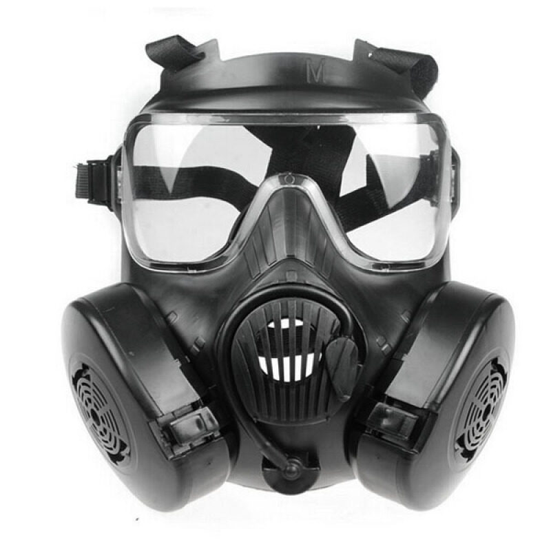 Buy Unisex Men Women Outdoor Sports Tactical Airsoft Paintball Full Face Mask Protective Mask (Black) Malaysia