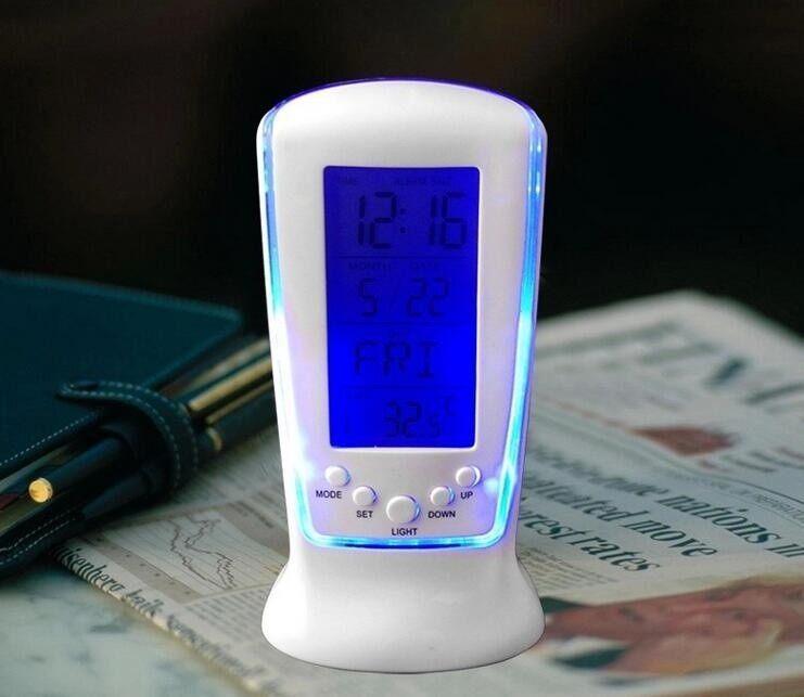 BEAUTIY CITY Urparcel LED Electronic Luminous Lazy Mute Calendar Thermometer Alarm Clock - intl