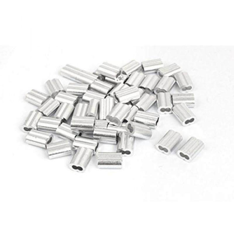 """Buy uxcell 1/8"""" Aluminum Sleeves Clip Loop Sleeve Cable Crimp Wire Rope 50 Pcs Malaysia"""