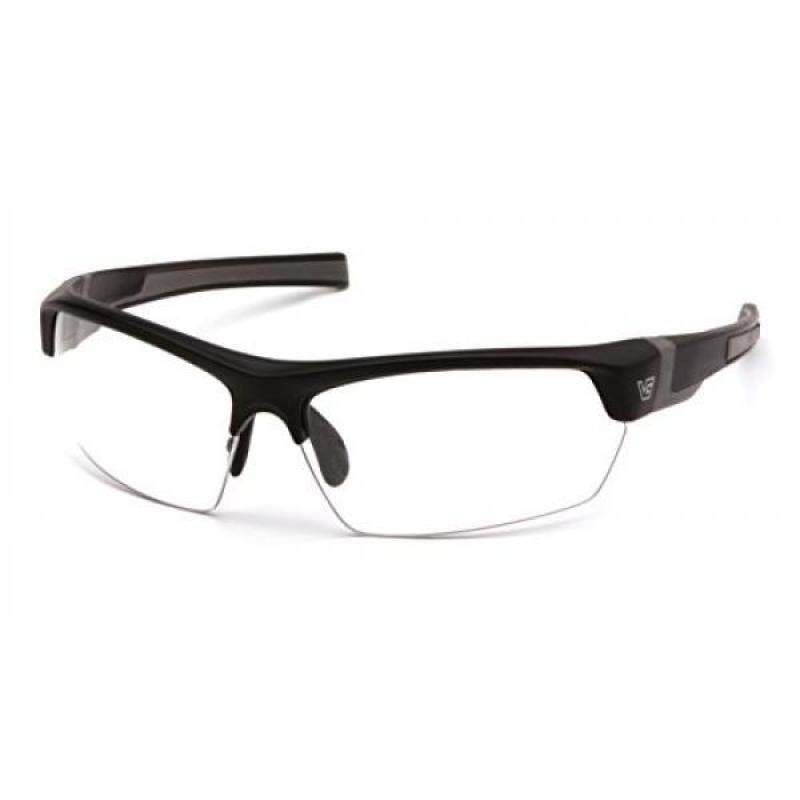 Venture Gear Tensaw Half-Frame High Performance Safety Eyewear, Black Frame, Clear Anti-Fog Lens