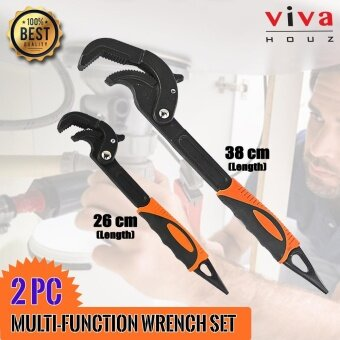 Viva Houz 2pc Multi-Function/Universal Wrench, 8-62mm , Industrial Grade, Heavy Duty For Water Pipe/Nut