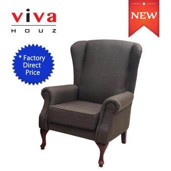 Harga VIVA HOUZ ASDA WING CHAIR/SOFA (BROWN)
