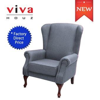 Harga VIVA HOUZ ASDA WING CHAIR/SOFA (GREY)