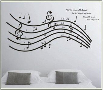 Wall Sticker   Music Notes Part 56