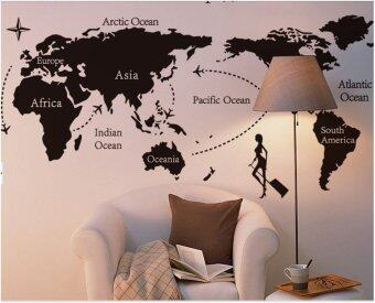 Harga Wall Sticker - World Map