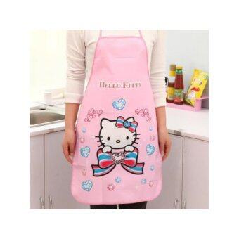 Waterproof apron(pink)