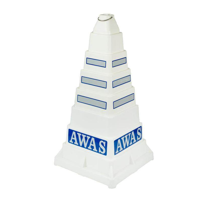Buy Wawasan Collapsible PE Traffic Safety Cone (White) – Made in Malaysia Malaysia
