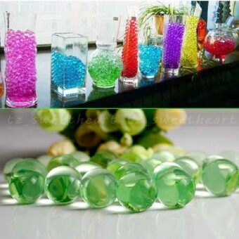 Harga Wedding 50G Water Aqua Crystal Soil Gel Ball Beads Vase CenterpieceApple Green