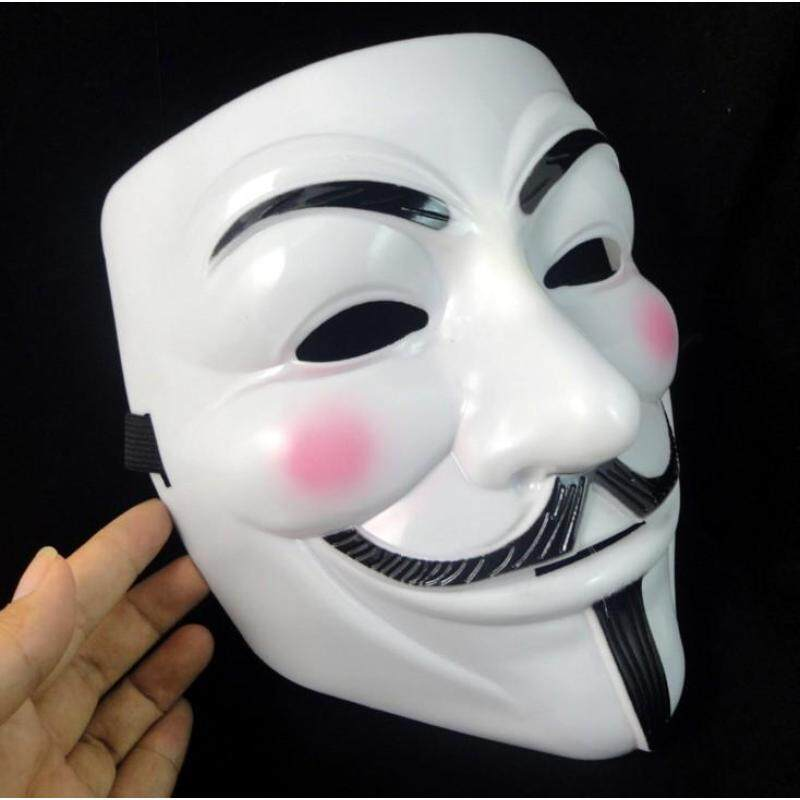 Womdee Kobwa V for Vendetta Fawkes Face Masks Anonymous Horrible on Cosplay Halloween Costume Party (Yellow)