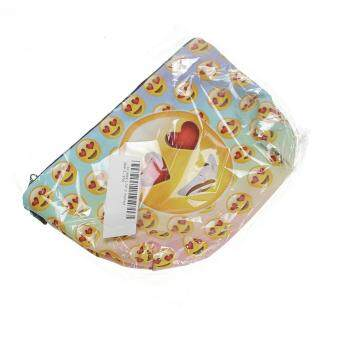 Women 3D Print Emoji Make Up Bag Kids Pencil Case Phone Pouch Cosmetic Handbag - 4