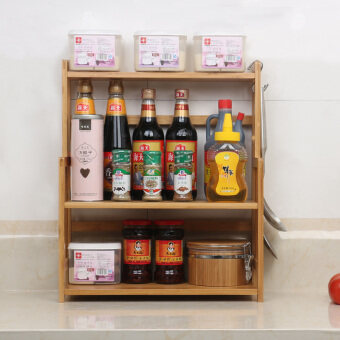 Wonderful bamboo seasoning rack kitchen shelf bamboo kitchen seasoning material kitchen supplies storage rack seasoning Products