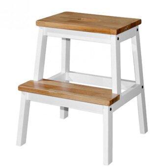 Wooden Step Stool Chair (2 Steps) - Natural White  sc 1 st  Lazada & Wooden Step Stool Chair (2 Steps) - Natural White | Lazada Malaysia islam-shia.org