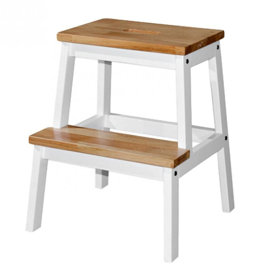 Wood step stool chair modus furniture bossa counter for Stool chair