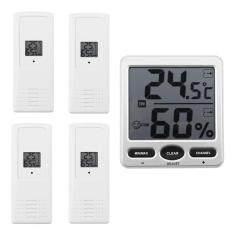 Buy WS-07-X4 Big Digit 8-Channel Wireless Thermo-Hygrometer(1 Console/4 Remote) Malaysia