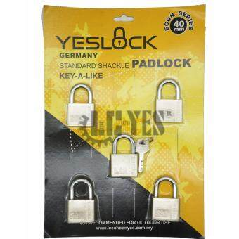 Harga YESLOCK Germany Standard Shackle Padlock Econ Series 40mm 5pcskey-a-like