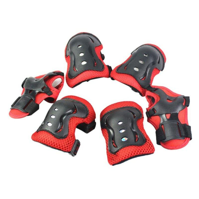Z-Direct 6PCS New Children Wrist Elbow Knee Pads Set Kids Sport Protective Tool (Red)