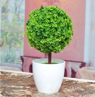 Harga Zakka ornaments creative gift simulation plants potted grass ballbonsai trees cherry ball Home Decorative floral