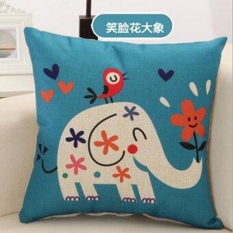 Zebra deer monkey car sofa linen pillow cover