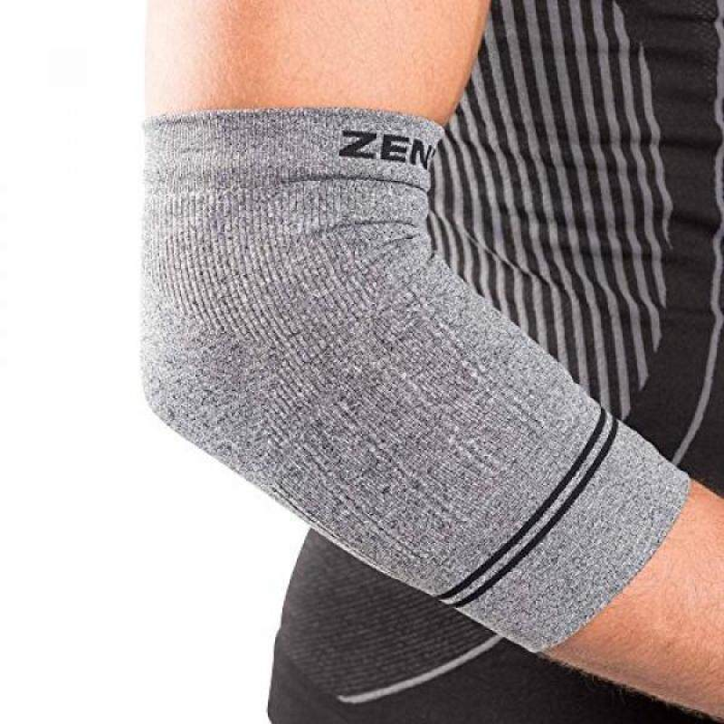 Buy Zensah Compression Tennis Elbow Sleeve for Elbow Tendonitis, Tennis Elbow, Golfers Elbow - Elbow Support, Elbow Brace,,Heather Grey Malaysia