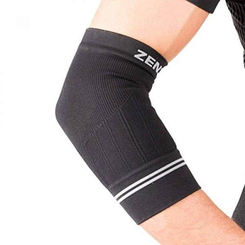 Buy Zensah Compression Tennis Elbow Sleeve for Elbow Tendonitis, Tennis Elbow, Golfers Elbow - Elbow Support, Elbow Brace,Large,Black Malaysia