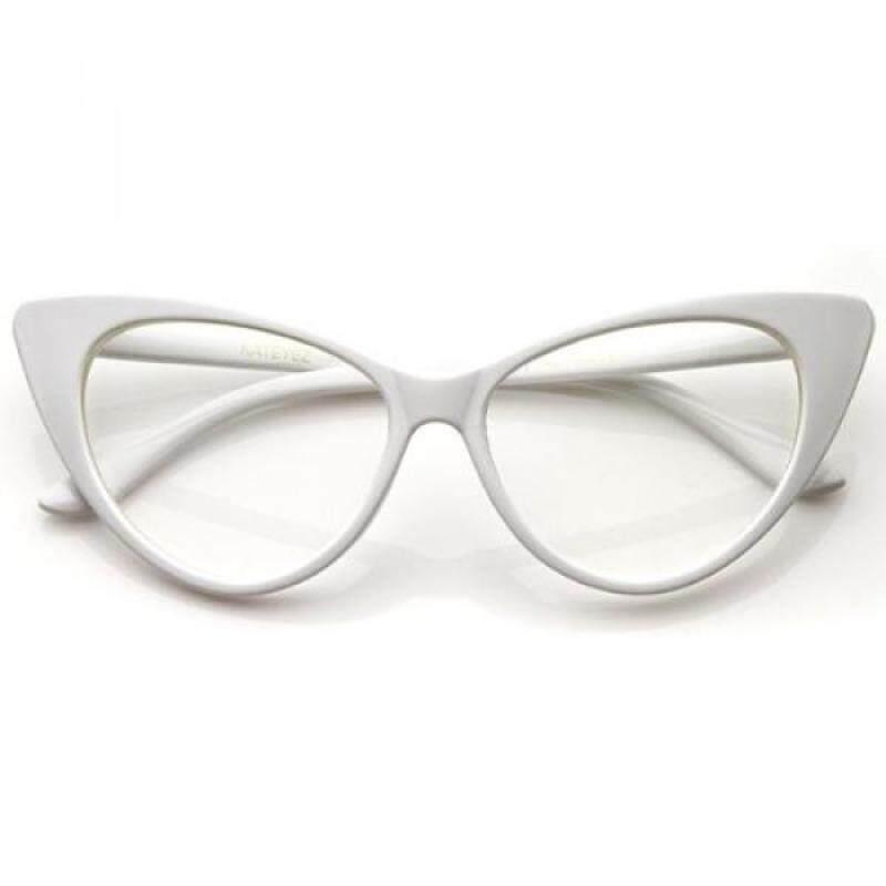 Buy zeroUV - Super Cat Eye Glasses Vintage Inspired Mod Fashion Clear Lens Eyewear Malaysia
