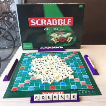 1 Set Scrabble Board Game Letter Puzzle Family Game Kids ToyCrossword Spelling Games