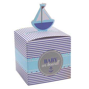 10PCs Wedding Sailboat Candy Box Birthday Shower Party Candy Boxes