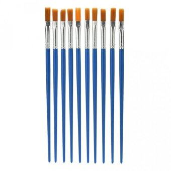Harga 10Pcs/Set Paint Brush Set Watercolor Drawing Painting Brush NylonBlue Brush