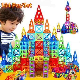 Harga 164 Pcs/set Mini Magnetic Designer Construction Toy Baby&KidsColorful Educational Toys Plastic Magnetic Blocks Building Toy