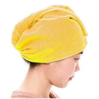 1Pc Quick Drying-Hair Turban Towel Microfibre Hair Wrap Hat BunHigh Quality