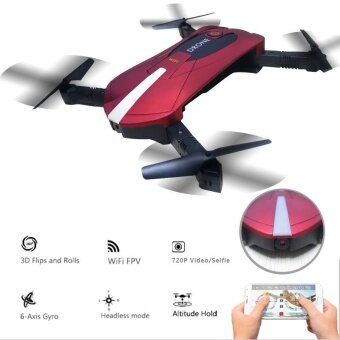 Harga 2017 new Elfie Cool design Foldable Mini Rc Selfie Drone with WifiFPV 720P VS JJRC H37 Drone HD Camera Altitude Hold&HeadlessMode RC Quadcopter Drone