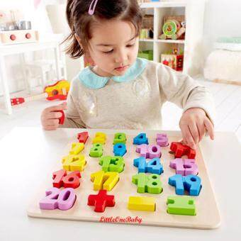 Harga 23pcs Wooden 0-20 Numbers Early Learning Toy / NUMBER PUZZLE /Preschool Learning Educational Toy Gift BEST SELLER!